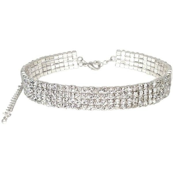 New Women Rhinestones Collar Necklace Choker Necklaces Jewellery UK