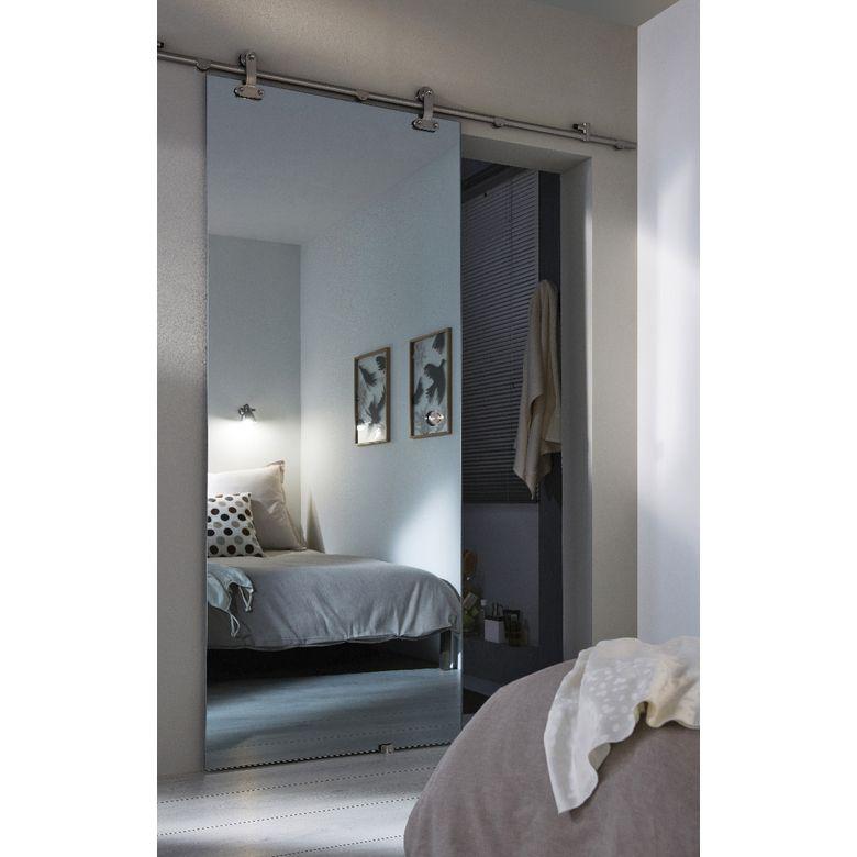 Porte coulissante Verre MIRAGE effet miroir Pinterest