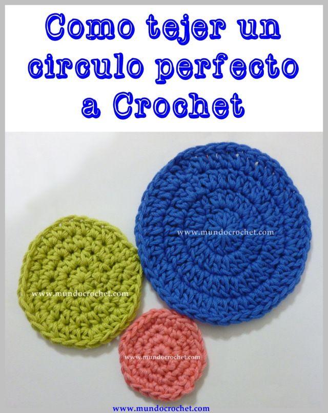 como tejer un circulo perfecto a crochet o ganchillo | ganchillo ...