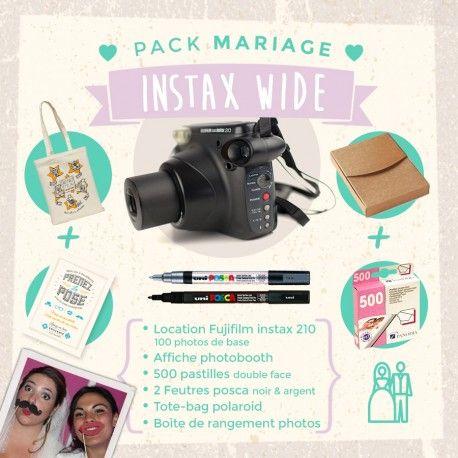 pack location polaroid pour mariage fujifilm instax 210 pinterest livre d 39 or mariage. Black Bedroom Furniture Sets. Home Design Ideas