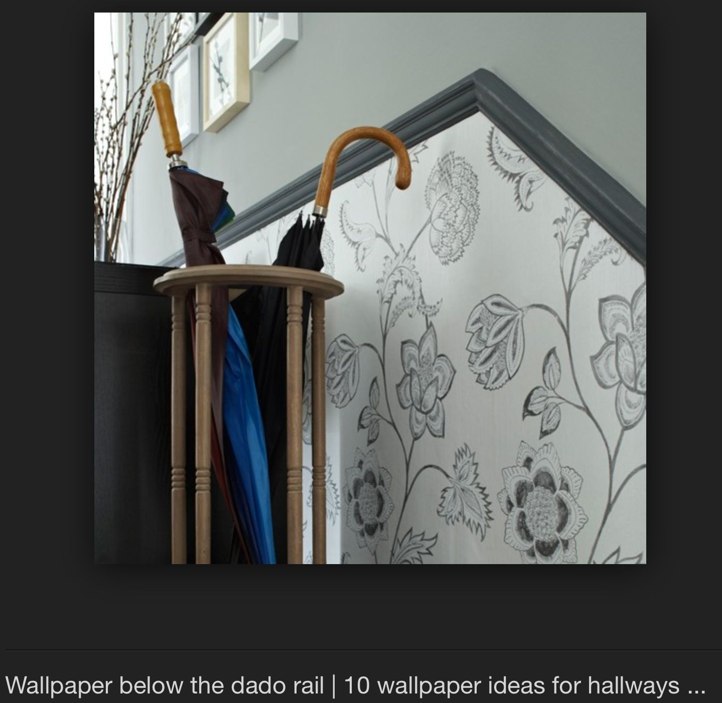 Wallpaper Below Dado Rail
