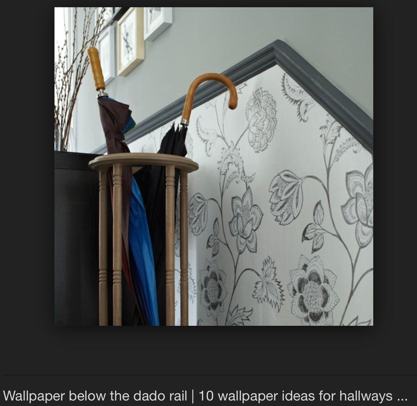 Wallpaper Below Dado Rail