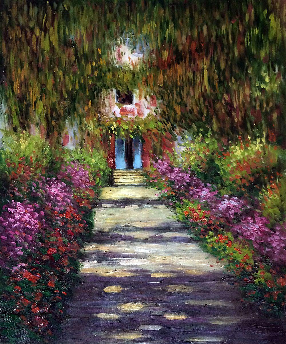 Garden Path At Giverny Claude Monet Monet Art Claude Monet
