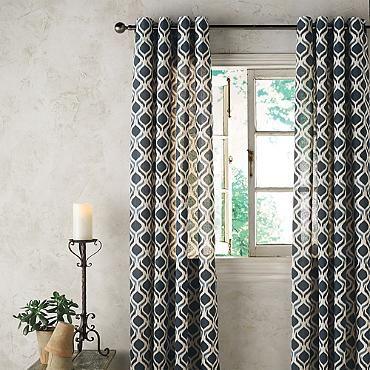 Bali Geometric Ikat Curtain Panel 108 Blue Blue From Grandin