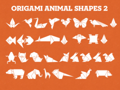 Powerpoint Vector Origami Animal Shapes 2