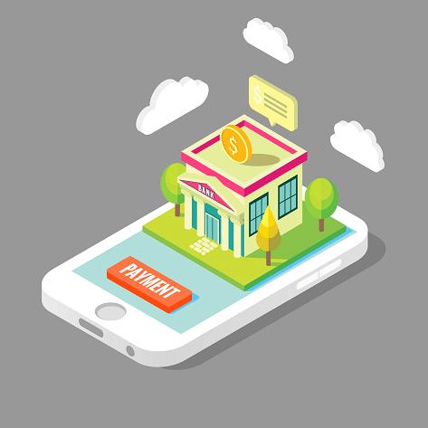 Online Banking Mobile App Isometric Illustration Isometric Design Isometric