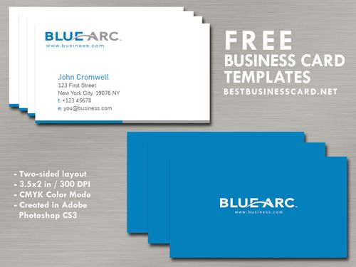 Simple Blue Business Card Template By Bestbusinesscards Free Business Card Templates Business Card Template Psd Blue Business Card