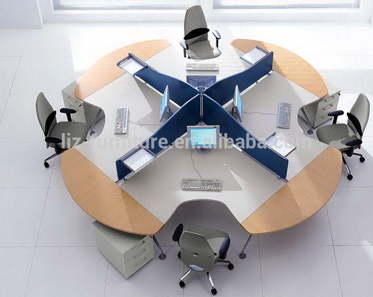 Amazing Round Office Desk. Modern Round Office Workstation/4 Person Workstation/office  Desk Divider