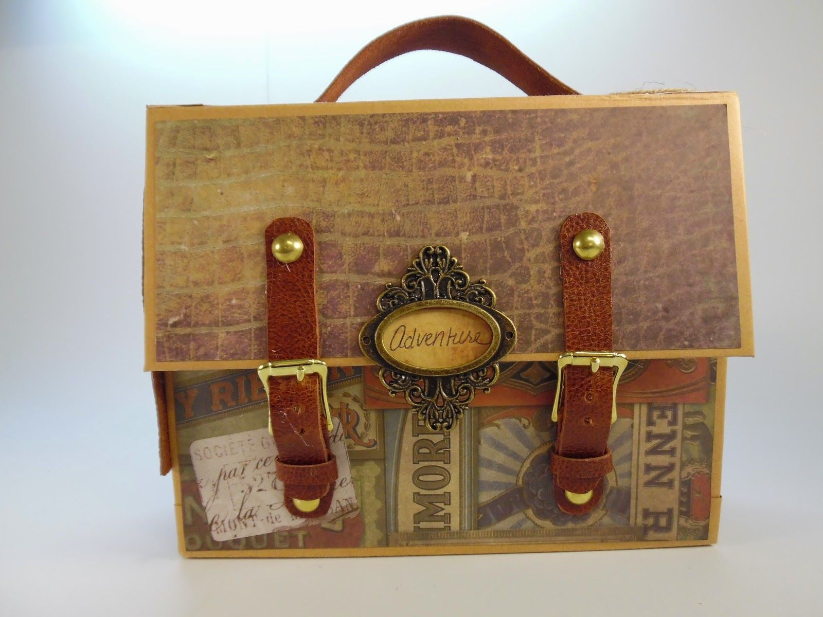 Designs by Shellie  SUITCASE TRAVEL ALBUM using Tim Holtz Crowded Attic and  Wallflower paper 5db14eef6b3e8