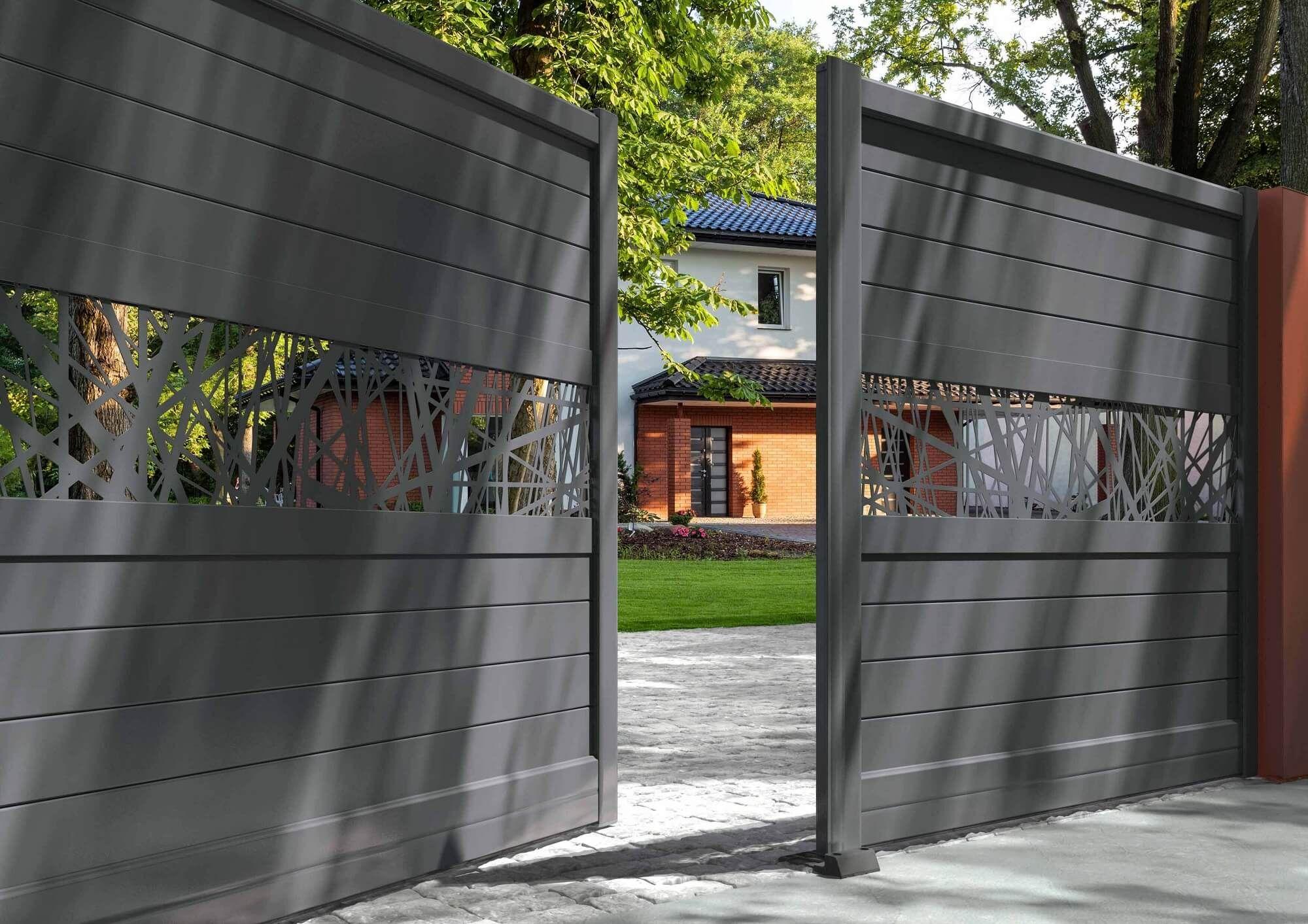 Beautiful Portail Coulissant 4m Castorama Portail Coulissant Portail Alu Portillon Jardin