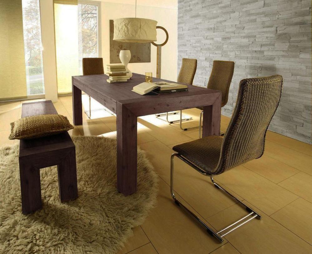 Esstisch Akazie massiv Esszimmertisch Tisch Designertisch Holztisch ...