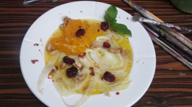 Rezept: Fenchelcarpaccio mit Orangen