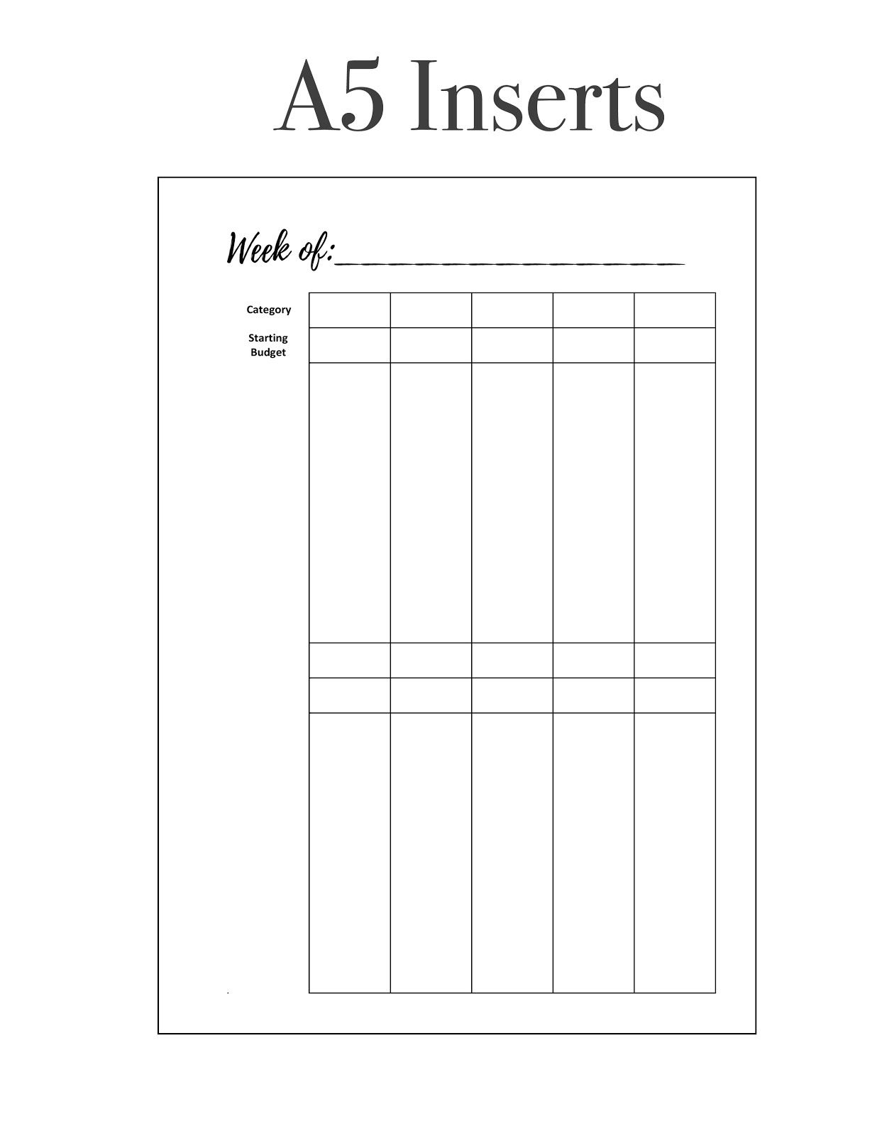 freebie friday weekly budget tracker printable planner