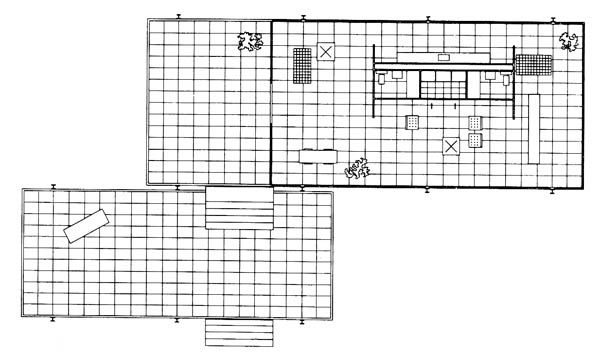 Meis van der rohe 39 s farnsworth house products i love for Farnsworth house floor plan