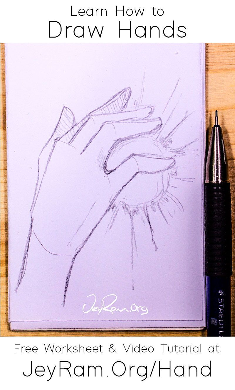 Pin On How To Draw Hands Step By Step Tutorial
