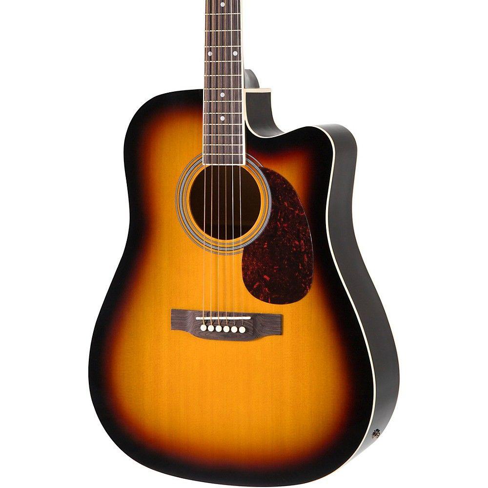 Rogue Ra 110d Ce Dreadnought Cutaway Acoustic Electric Guitar Sunburst Acoustic Electric Guitar Guitar Acoustic Electric