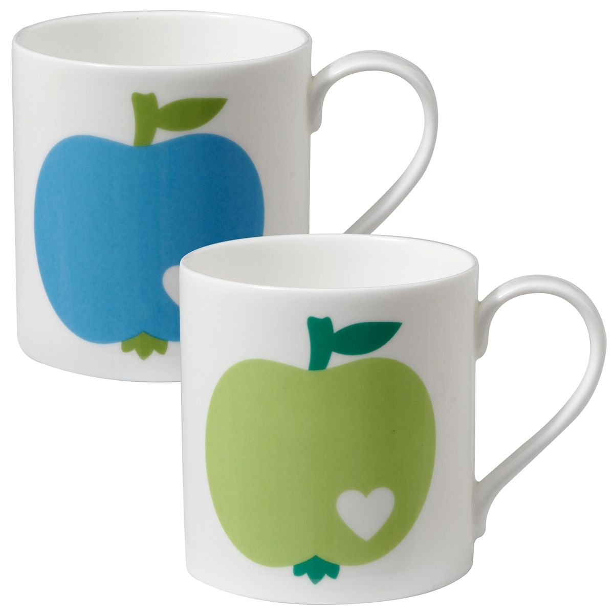 Apfel Becher Set / Apple mug set: Made of fine bone china from the UK, the apple mugs are perfect for your coffee and tea!