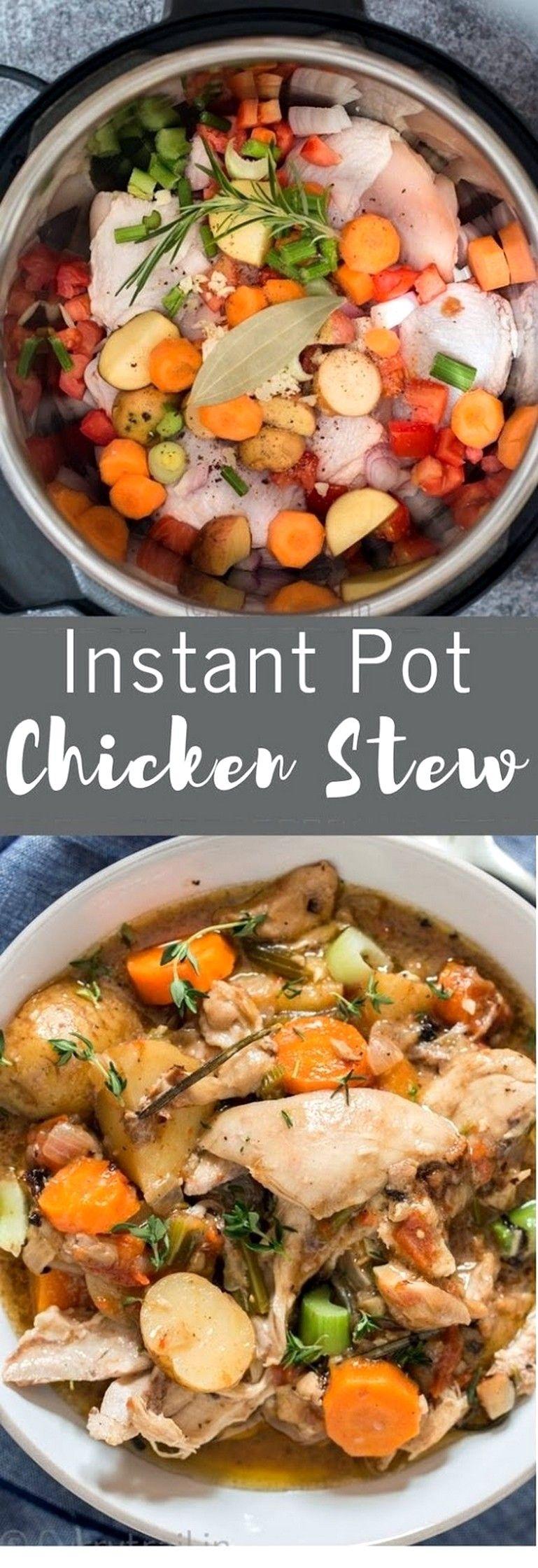 Instant Pot Chicken Stew #instantpotrecipesforbeginners
