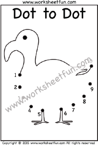 Dot to Dot – Duck – Numbers 1-10