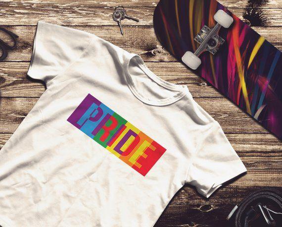 1d784414eb9d Graphic T Shirts · LGBTQ Pride Shirt, Unisex Gay Lesbian Rainbow Tee LGBTQ Pride  Shirt, Unisex Gay Lesbian