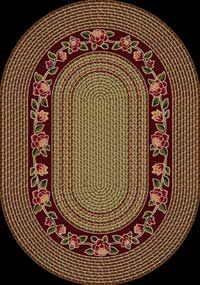 Braid Impressions Floral Twist Cranberry Area Rug Madeinusa Rugs Area Rugs Contemporary Rugs