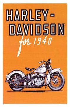 Epier Vintage Harley Davidson Poster 1940 Glossy Harley Davidson Poster Harley Davidson Vintage Harley Davidson