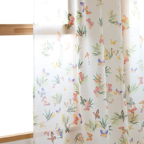 Cortina lino mariposas cortinas cama zara home for Cortinas bebe zara home