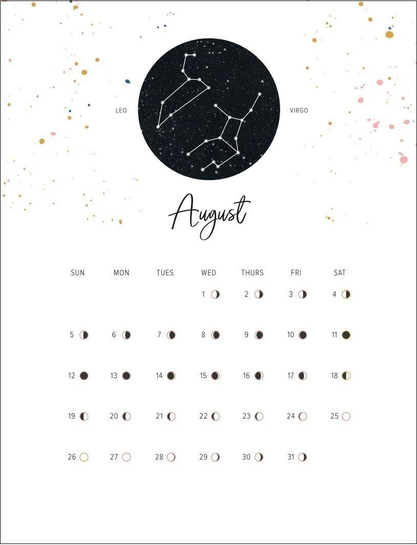 August 2018 Moon Calendar Random Helpful In 2019 Moon Calendar