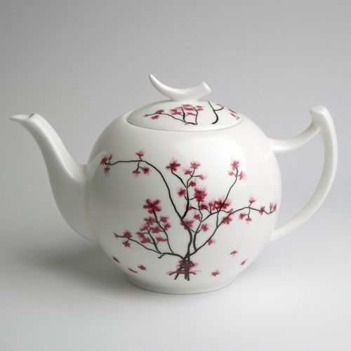 Moderne Teekanne teekanne cherry blossom tea4you teehandelges mbh porzellan