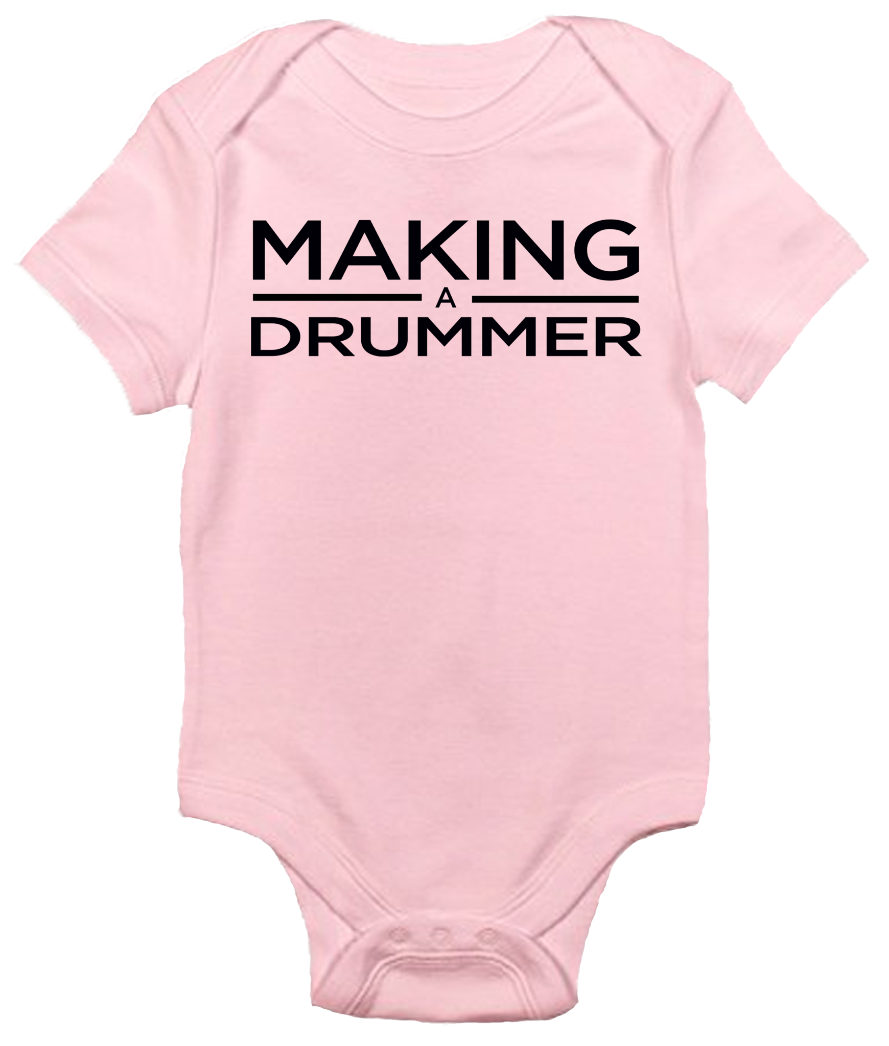 Baby Bodysuit Making A Drummer
