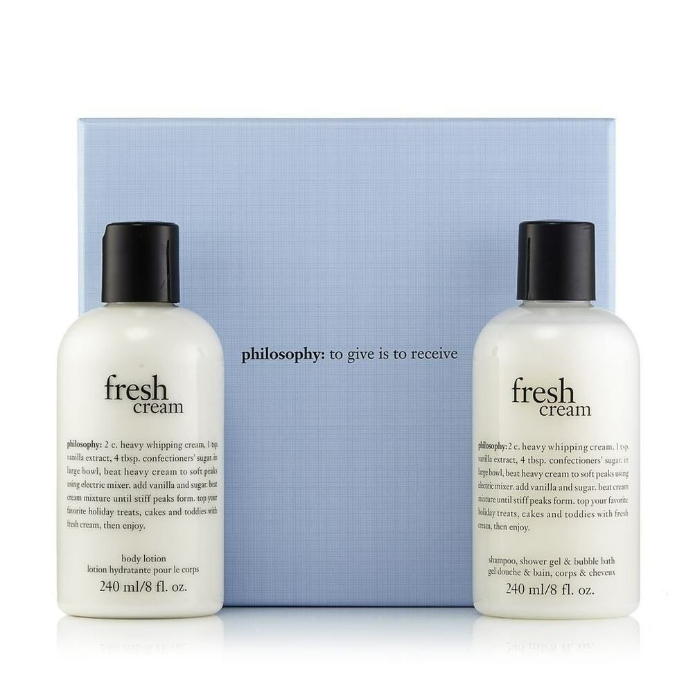 Philosophy Fresh Cream Body Lotion And Shampoo Shower Bubble Bath Gel Set Philosophy Philosophy Fresh Cream Body Lotion Lotion Gift Sets