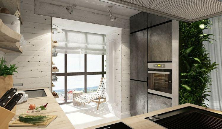 Wohnung Femininer Einrichtung Industriell Stil Balkon Ofen Grau Schrank |  Ffm Wohnung | Pinterest.