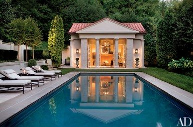 Thomas Pheasant Designs A Contemporary Residence In Washington D C Pool Houses Pool House Interiors Pool House