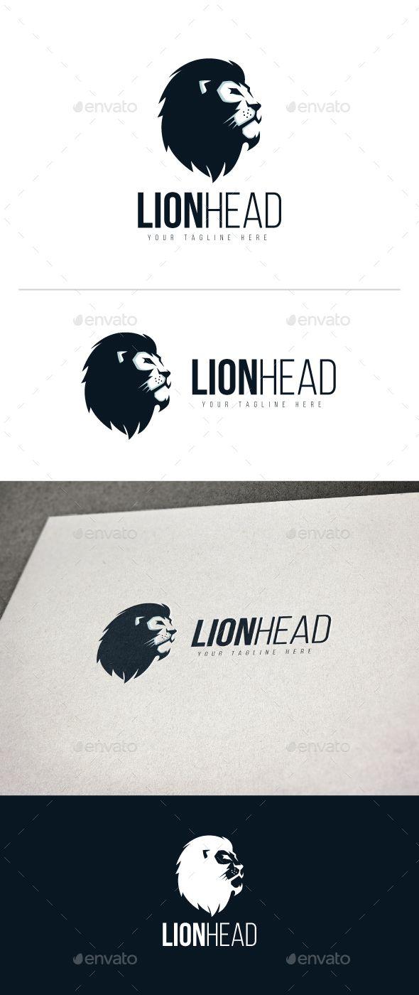 lion head logo animal logo logo templates and logos