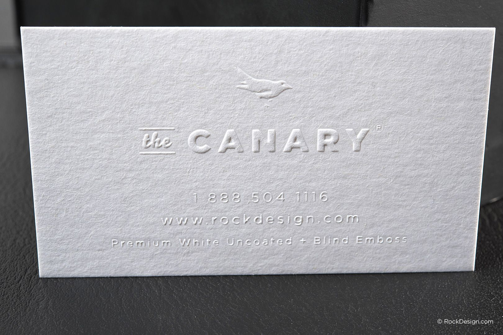 Minimalist blind emboss premium white business card - The Canary ...