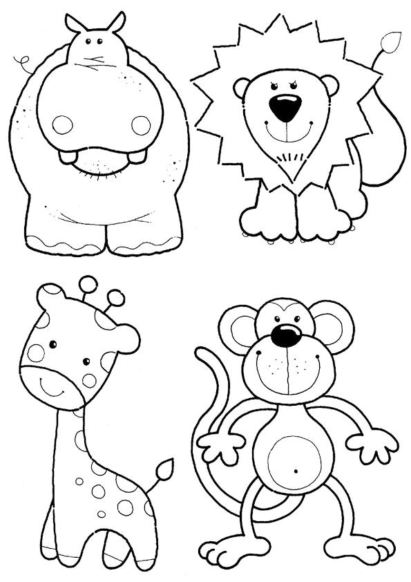 Animales de la selva para colorear | Dibujos para colorear | Clipart ...