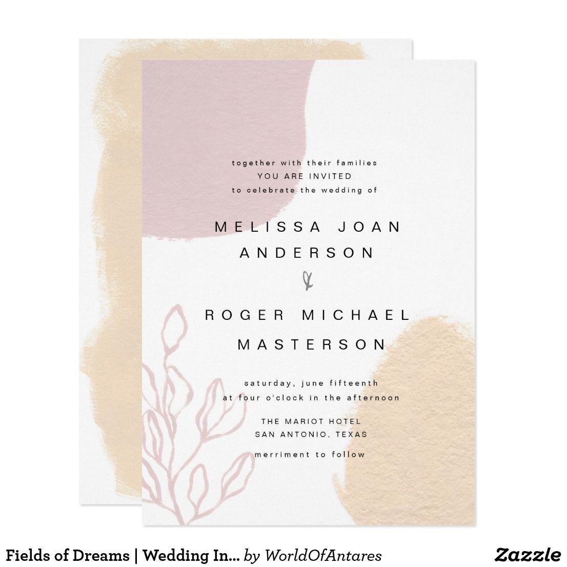 Zazzle Wedding Invitations.Fields Of Dreams Wedding Invitation Zazzle Com In 2019 Wedding