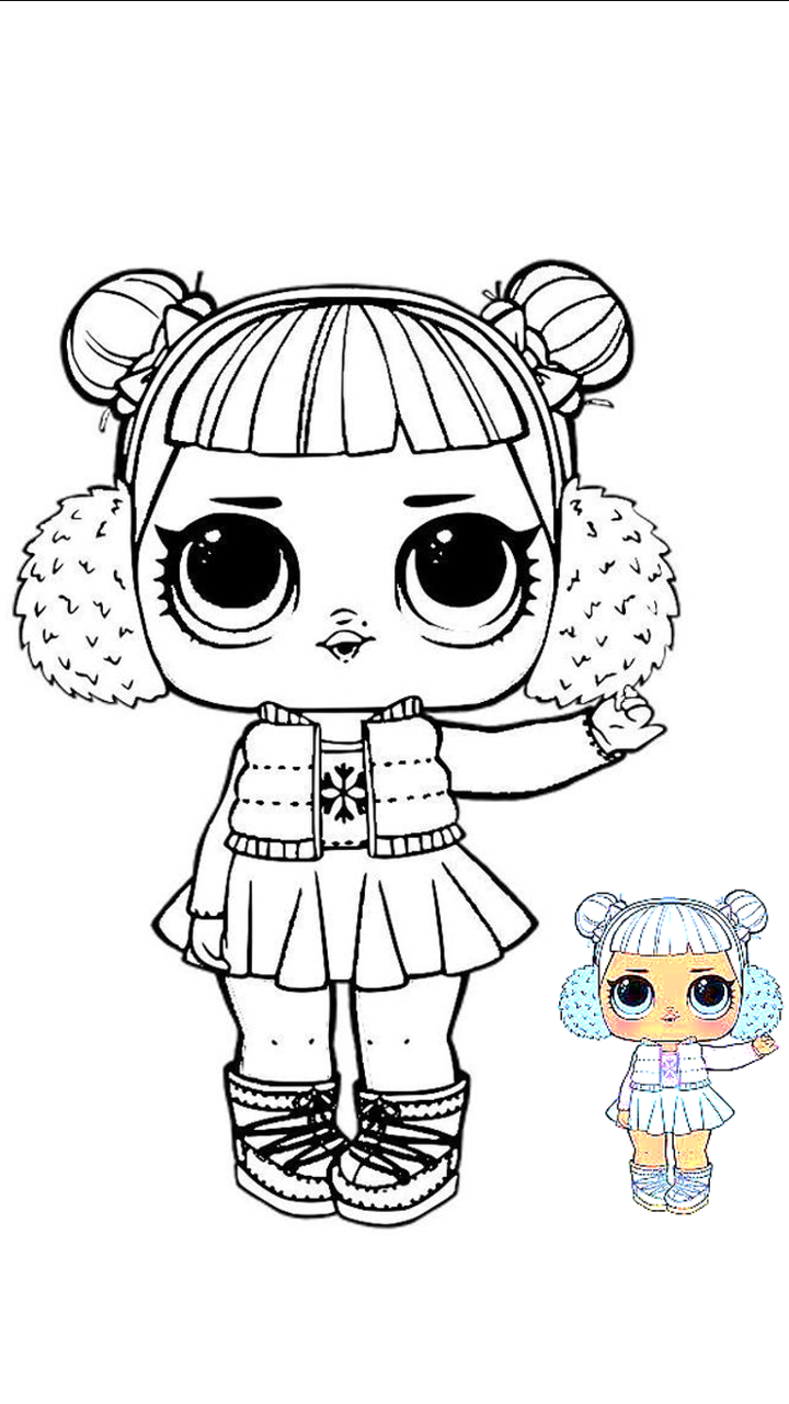 Lol Invierno Para Colorear Lol Dolls Coloring Pages Coloring Pages For Kids