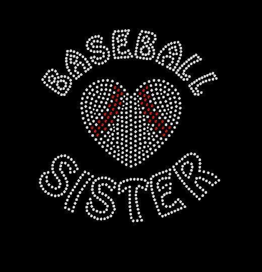 Baseball Sister Shirt Tshirt.  Rhinestone shirt.  A personal favorite from my Etsy shop https://www.etsy.com/listing/264763329/baseball-sister-tshirt-rhinestone-hoodie  #baseball #baseballshirt #baseballtee #baseballplayer #baseballmom #customapparel #lovebaseball #baseballislife #baseballsister