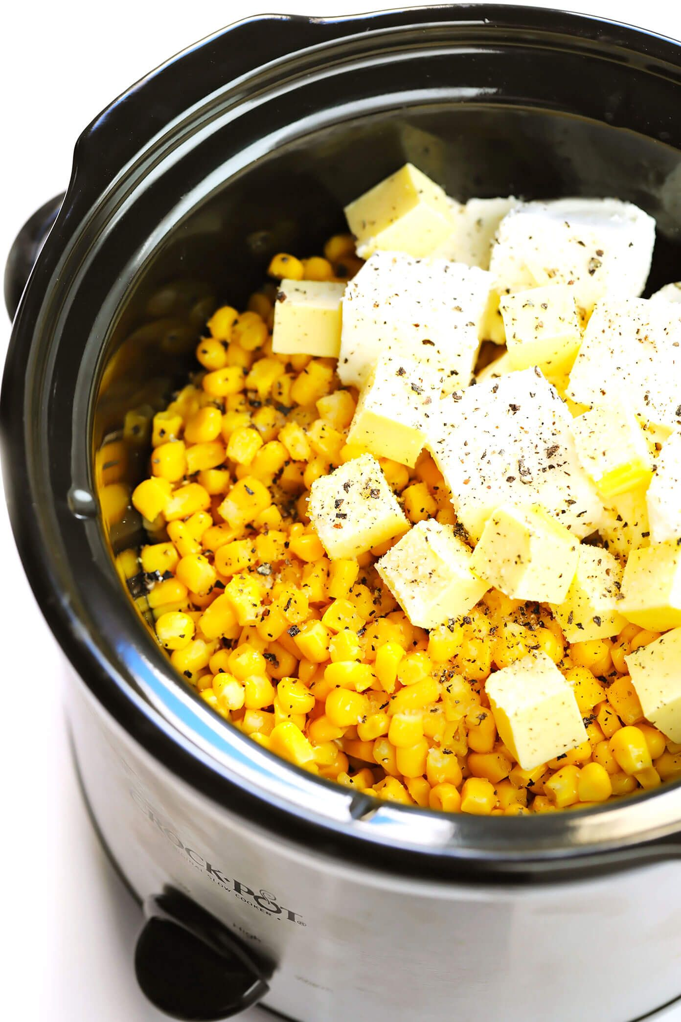 Slow Cooker Creamed Corn | Gimme Some Oven