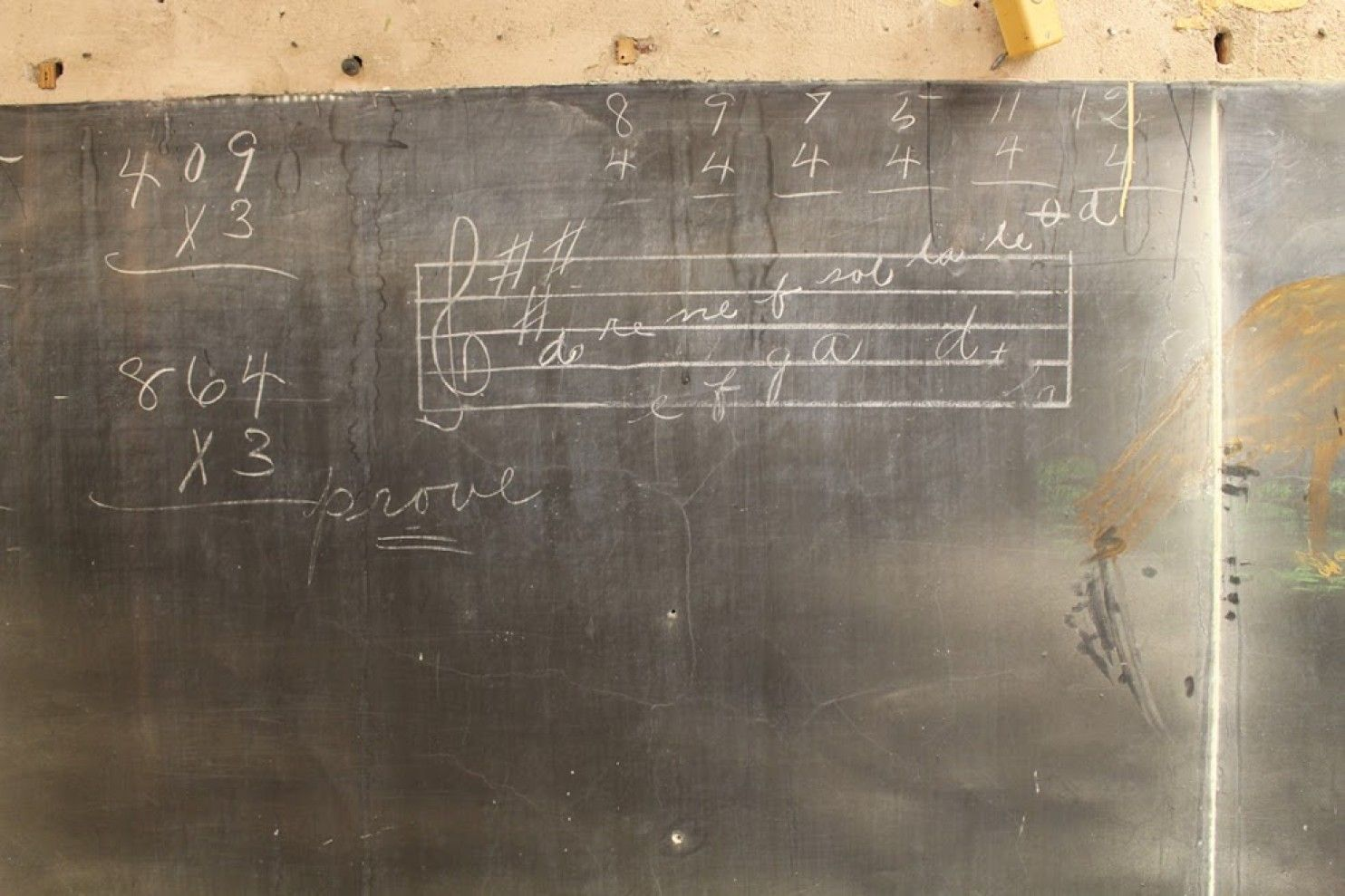 Haunting Chalkboard Drawings Frozen In Time For 100 Years Discovered In Oklahoma School Chalkboard Drawings School Chalkboard School
