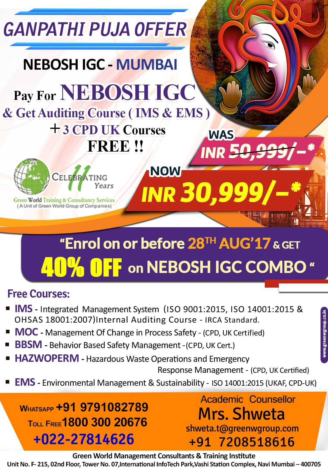 Pin By Health And Safety Training Course On Nebosh Course In Mumbai