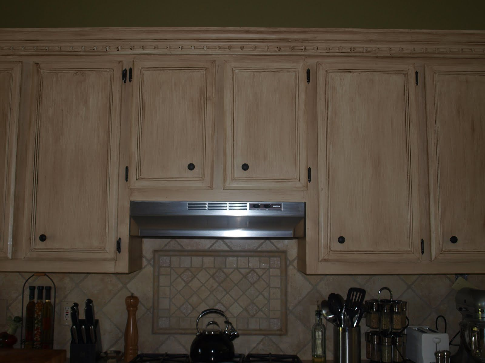 Tea Stained Cabinets