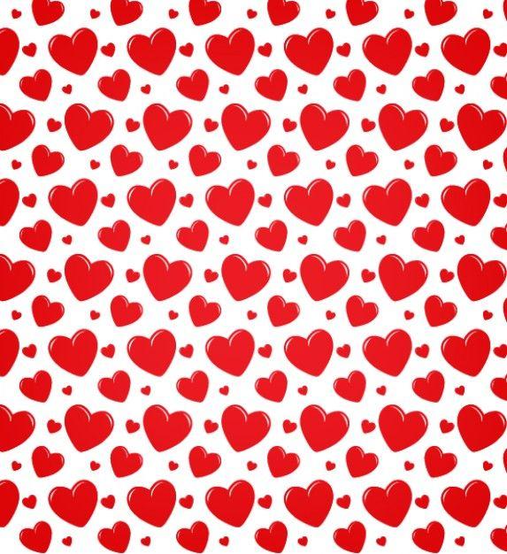 Картинка с сердечками на а4