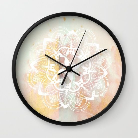 White Mandala No 2 Wall Clock By Quickpoet Society6 Clock