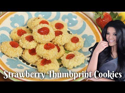 Resep Strawberry Thumbprint Cookies Youtube Kue Kering Resep Kue Resep