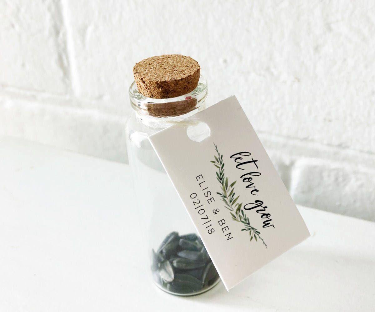 Let Love Grow Seed Packet-Custom seed packet-Seed Wedding favor ...