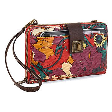 a2d404f73 Women's | Sakroots Artist Circle Large Smartphone Crossbody - Crimson  Flower Power - FREE SHIPPING at Shoes.com