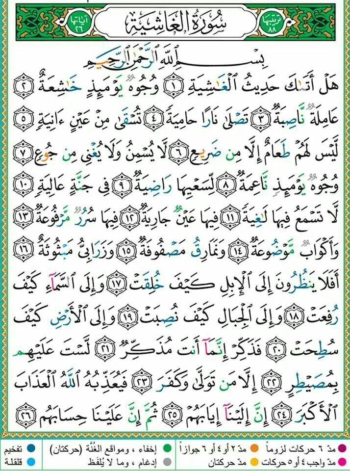 سورة الغاشية Quran Verses Holy Quran Book Quran Book