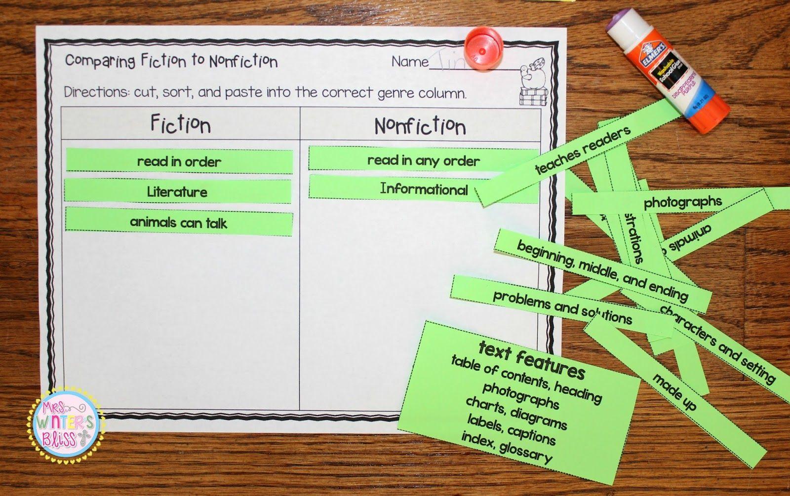 Comparing Fiction And Nonfiction Ideas Amp Resources